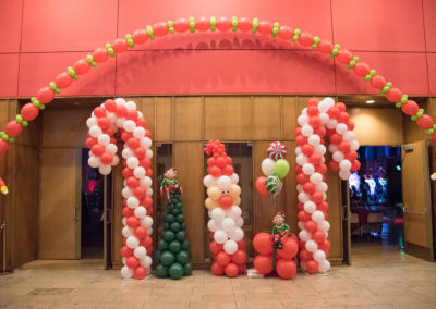 Balloon Candy Canes and Christmas Trees